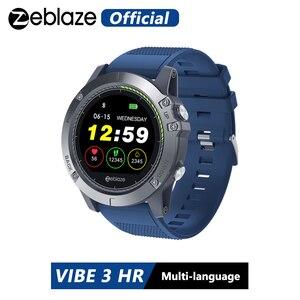 Новый Zeblaze VIBE 3 ч Смарт-часы IP67 Водонепроницаемый активности Фитнес трекер монитор сердечного ритма поля Для мужчин Smartwatch