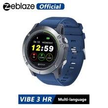 Zeblaze VIBE 3 HR 스마트 시계 IP67 방수 활동 피트니스 트래커 심박수 모니터 BRIM Men Smartwatch