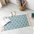 Новейшие 60*90 см Ретро богемные тканые хлопковые льняные ковры с кисточками прикроватный коврик геометрический напольный коврик для гостин...
