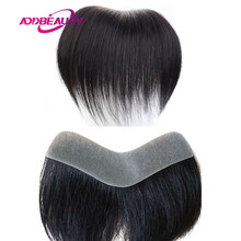 AddBeauty Men Toupee pelle sottile PU V Style sistemi di sostituzione dei capelli anteriori parrucche per capelli umani Remy indiani colore naturale dritto