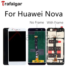 Trafalgar Display For Huawei Nova LCD Display CAZ L13 L03 L12 L02 Touch Screen For Huawei Nova Display With Frame Replacement