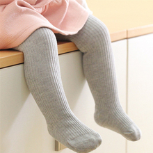 Baby Autumn Winter Tights Stockings Infant Toddler Kids Boys Girls Ribbed Cotton Warm Pantyhose Solid Candy Color Tight 0-3Y