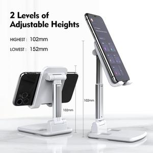 LINGCHEN Phone Stand for iPhone 11 Xiaomi Samsung Foldable Metal Desktop Tablet Phone Holder Universal Table Cell Phone Holder