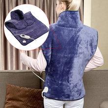 220v ue plug 60*90cm microplush aquecimento elétrico almofada envoltório pano para pescoço e ombro inverno corpo mais quente alívio inteiro da dor nas costas