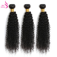 Raw Indian Hair Kinky Curly Extensions 1/3/4 Pcs Human Hair Weaving Bundles Natural Color 100G/Pc Real Beauty Remy Free Shipping