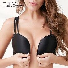 FallSweet chiusura frontale reggiseno senza fili immersione Lingerie Sexy Plus Size intimo reggiseni senza cuciture per donna da 34 a 50