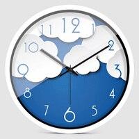 Digital Wall Clock Cat Cloud Clock Living Room Personality Trend Quartz Clock Watch Bedroom Silence Creative Fashion Zb010