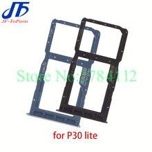 Soporte de bandeja para tarjeta SIM, piezas de reparación para teléfono móvil Huawei P30 Lite Pro, 10 Uds.