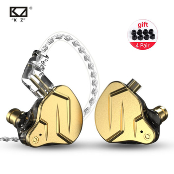 цена на KZ ZSN Pro X 1BA+1DD Hybrid technology HIFI Bass Earbuds Metal Earphones In Ear Monitor Earphones Sport Noise Cancelling Headset