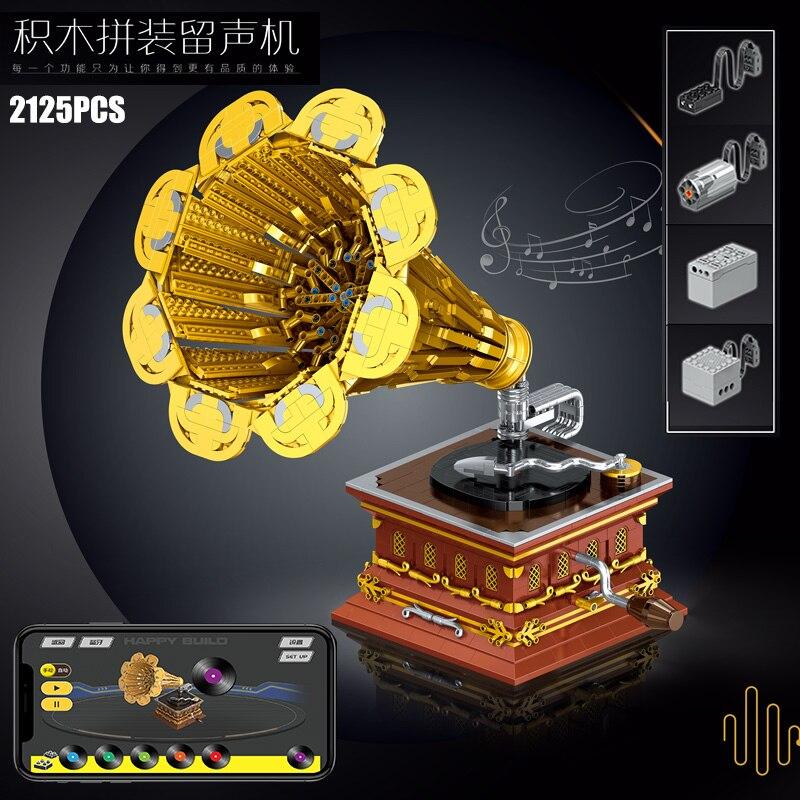 Yeshin 21002 The APP Motorized Phonograph Model Building Blocks