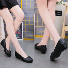Women Wedge pumps Sexy Bow Pumps shoes Butterfly round Toe Office Shoes Woman wedge Heels Dress Mather fashion