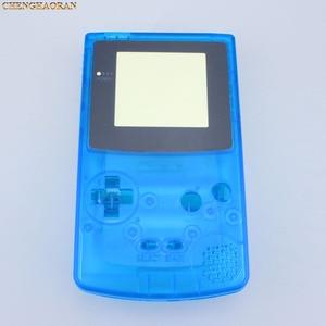 Image 4 - ChengHaoRan 1set Klar Blue Full Housing Shell fall abdeckung für GBC Gameboy Farbe mit Leitfähigen Gummi Schraubendreher