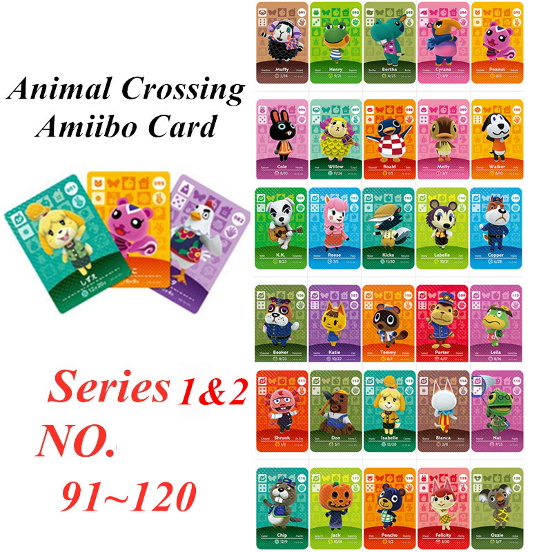 Animal Crossing Card Amiibo NFC Card For Nintendo Switch NS Games Series 1 2  (91 To 120)