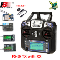 FLYSKY FS-i6 I6 2,4G 6CH AFHDS 2A Rdio transmisor IA6B X6B A8S R6B IA10B receptor para RC Avión Helicóptero Dron de carreras con visión en primera persona