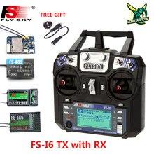 Flysky FS-i6 i6 2.4g 6ch afhds 2a rdio transmissor ia6b x6b a8s r6b ia10b receptor para rc avião helicóptero fpv corrida zangão