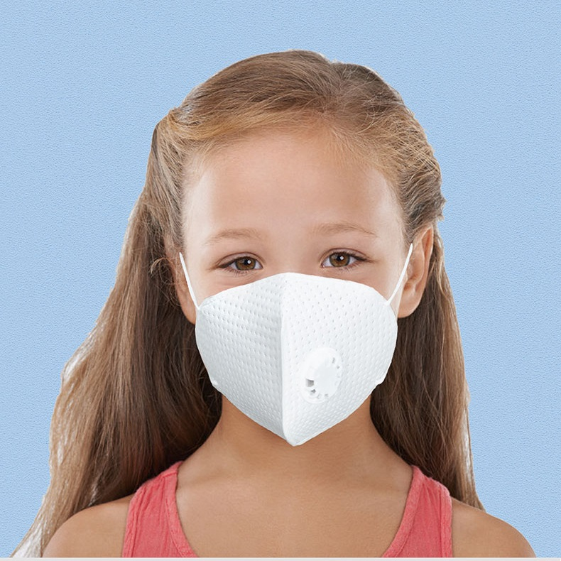 Kid Child Masks With Valve Face Protect Disposable Anti-dust Germ Pollution Face Mask Face Safety Wireman Masks