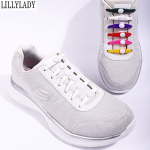 Image 2 - Silicone No Tie Shoelaces 12pcs/lot Elastic Shoe Laces Accessories Elastic Lace Shoelace Creative Lazy Silicone Laces Rubber