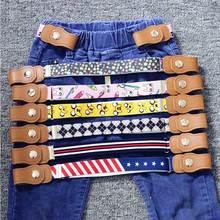 Эластичный пояс без пряжки для детей; эластичный пояс без пряжки для мальчиков и девочек; регулируемый пояс для детей; джинсовые брюки