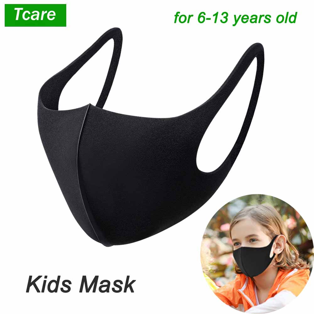 3Pcs/Lot For 6-13 Years Kids Children Mouth Mask Anti Pollution Mask PM2.5 Air Dust Face Masks Washable And Reusable Mouth Cover