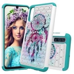 Image 5 - Paillettes Diamant Téléphone étui pour samsung Galaxy A30 A50 A20 A20e A10e Note10 Note Pro 10 PC TPU Hybride Bling Strass Housse