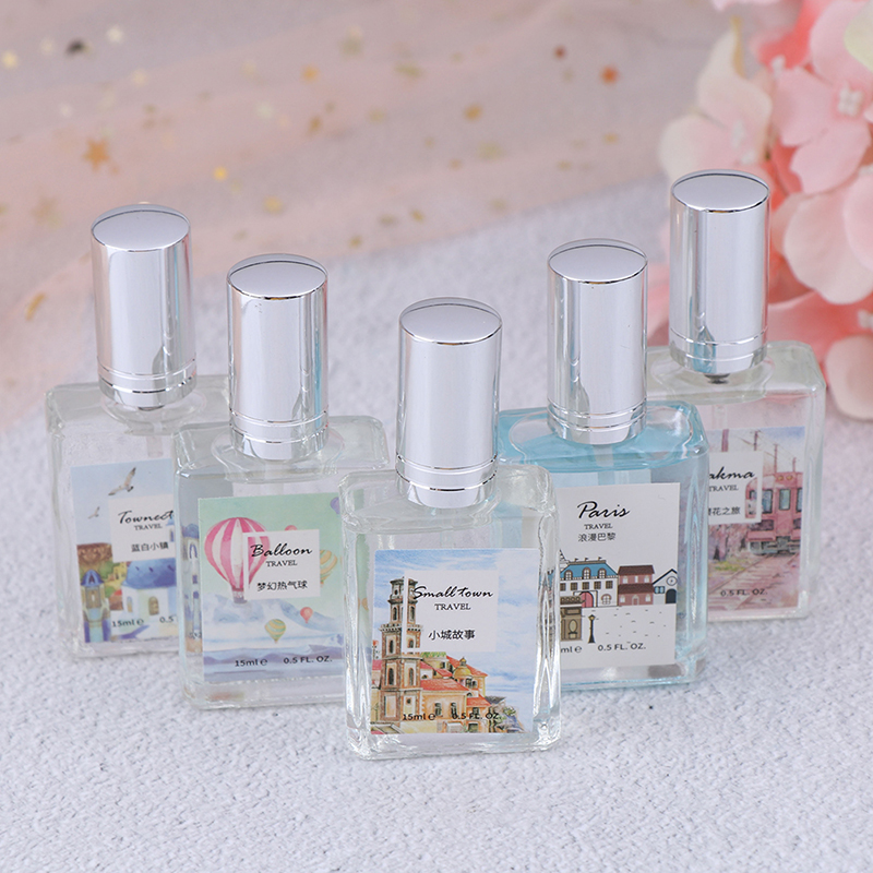 1PC 15ml Mini Perfume Fresh Scent For Women Students 5 Flavors With Beautiful Bottle And Gift Box Portable Travel Perfume In Bag