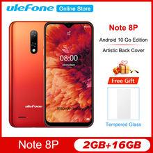 Ulefone Note 8P 5.5 ''Android 10 Gaan Waterdrop Screen Smartphone Quad Core MT6737VW 2Gb 16Gb 5V/1A 8MP Camera 4G Mobiele Telefoon