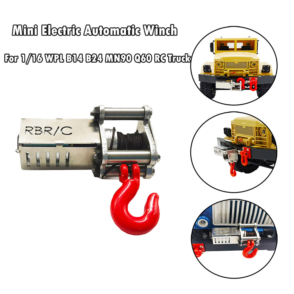 Electrical Automatic Winch For 1/16 WPL B14 B24 B26 C14 MN90 MN91 Q60 Q61 RC Truck Kids Toys Juguetes Brinquedos игрушки New