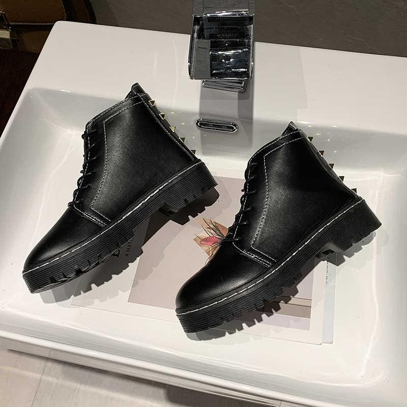 Fujin kadın botları kış yuvarlak ayak Dropshipping dantel ayak bileği kauçuk düz dipli moda nefes çapraz bağlı rahat kadın ayakkabı