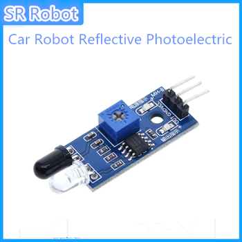 10pcsSmart Car Robot Reflective Photoelectric 3pin IR Infrared Obstacle Avoidance Sensor Module For Arduino Diy Kit Car Chassis