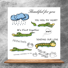 ZhuoAng Cute crocodile Clear Stamps/Silicone Transparent Seals for DIY scrapbooking photo album Stamps
