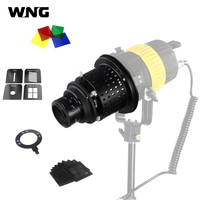 Cônico snoot focalizar foto óptico condensador luz cilindro efeitos especiais em forma de feixe bowens montagem yongnuo yn50mm f1.8 lente
