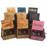 Caja de música de los Piratas del Caribe Juego de tronos Harrypotter cajas de música hechas a mano cajas musicales de madera regalo Caja de música