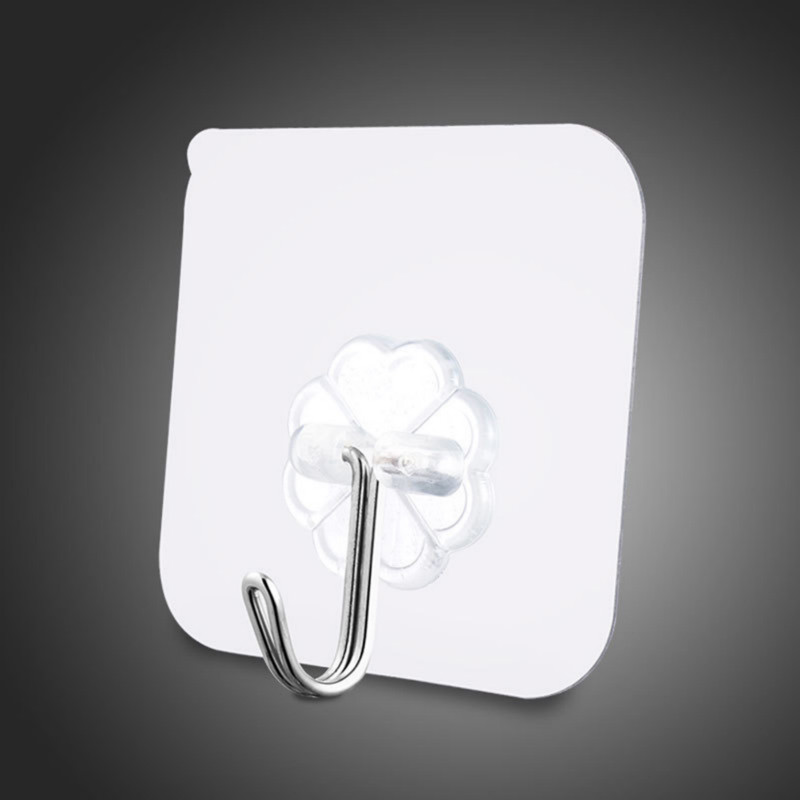 1PCS Strong Transparent Self Adhesive Door Wall Hangers Suction Cup Sucker Wall Hooks Hanger For Kitchen Bathroom Accessories