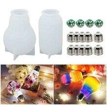 Diy電球樹脂モールドdiyエポキシ樹脂接着剤シェードシリコーン型ledランプ工芸品の装飾ツールランプキャップチップセット