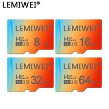 Lemiwei – carte TF de qualité supérieure, dégradé de 3 couleurs, 8 go 16 go 64 go, classe 10, étanche, mémoire de 32 go pour téléphone et tablette