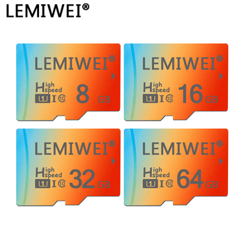 Lemiwei Gradient Three Colors Top Quality TF Card 8GB 16GB 64GB Class 10 Waterproof Memory Card 32GB For Phone Tablet