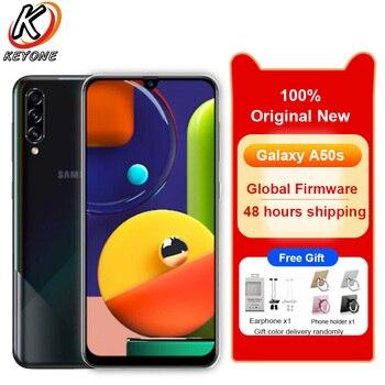 Перейти на Алиэкспресс и купить Новый Samsung Galaxy A50s A5070 6 ГБ ОЗУ 128 Гб ПЗУ мобильный телефон 6,4 дюймВосьмиядерный тройной задний экран камеры отпечаток пальца две sim-карты