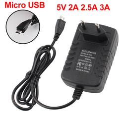Micro USB Power Adapter 5V Volt 2A 2.5A 3A Micro USB Power Supply Adapter 220V To 5V 2A 2.5A 3A EU US UK EU Plug Charger