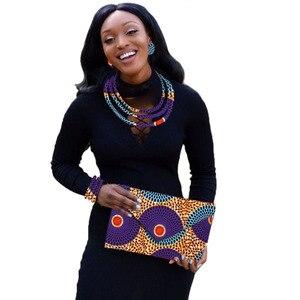 Image 4 - סט תכשיטים אפריקאי שעוות הדפסה תכשיטי ניגרי חתונה אפריקאית חרוזים תכשיטי סט מותאם אישית