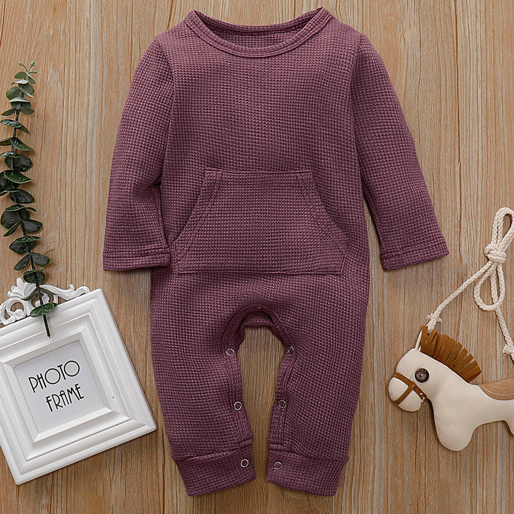 Feing Kids Baby Clothes Cotton Jumpsuit Romper Dress Up O Neck Cloth