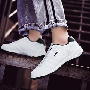 Image 2 - Спортивная обувь из искусственной кожи, мужские кроссовки для бега, Спортивная мужская обувь для бега, белые кроссовки, обувь для бега, A 374