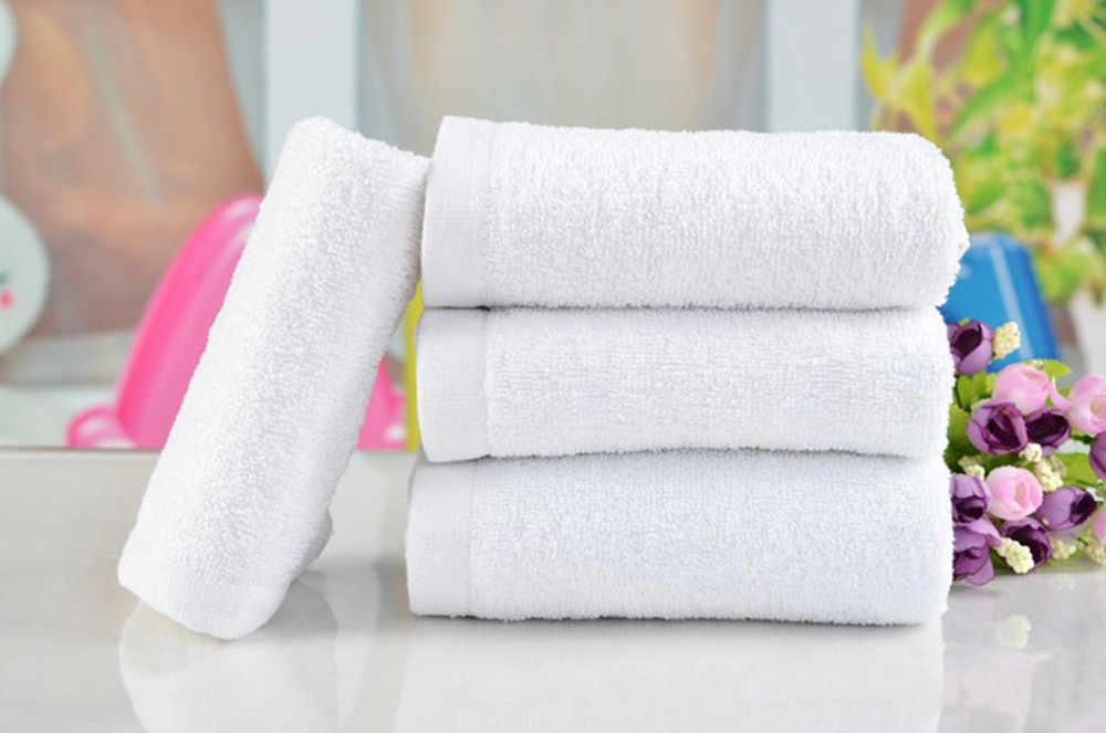 1 pieza de Toallas de mano de algodón suave para baño de Hotel, ducha, absorción de agua, paños, toelas blancas para el hogar, suministros de 30*65cm