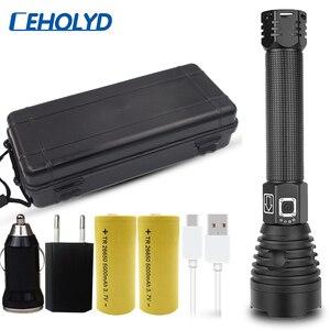 XHP90 Новое поступление самый мощный светодиодный фонарик usb Zoom torch 18650 26650 аккумуляторная батарея ярче, чем xhp70.2 xhp70 xhp50