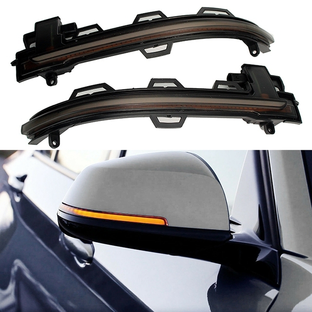 2pc LED Sequential Turn Signal Mirror Lights - (Smoked Lens) For Bmw X3 X4 X5 X6 F25  3