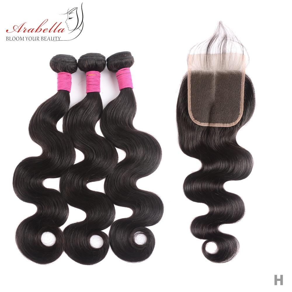 Body Wave 3 Bundles With Closure Natural Color   Arabella  Hair 3 Bundles With 4*4 Lace Closure 2