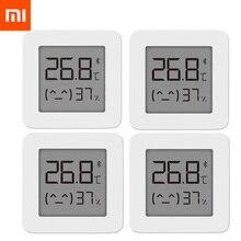 XIAOMI Bluetooth דיגיטלי מדחום 2 LCD מסך דיגיטלי לחות מד אלחוטי חכם טמפרטורת לחות חיישן אין סוללה