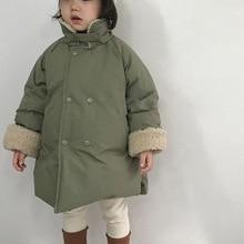 Honey Angle Winter Girl Boy Cotton Jacket Lapel Kids Outerwear Korean Version Toddler Baby Clothes Winter Warm Thicken Coats