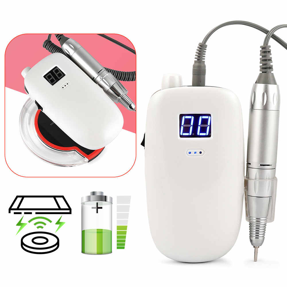 36W 30000 Rpm Rechargeable Nirkabel Biaya Kuku Gel Polisher Electric Kuku Bor Mesin Portable Manicure Set Pedicure Kuku Alat