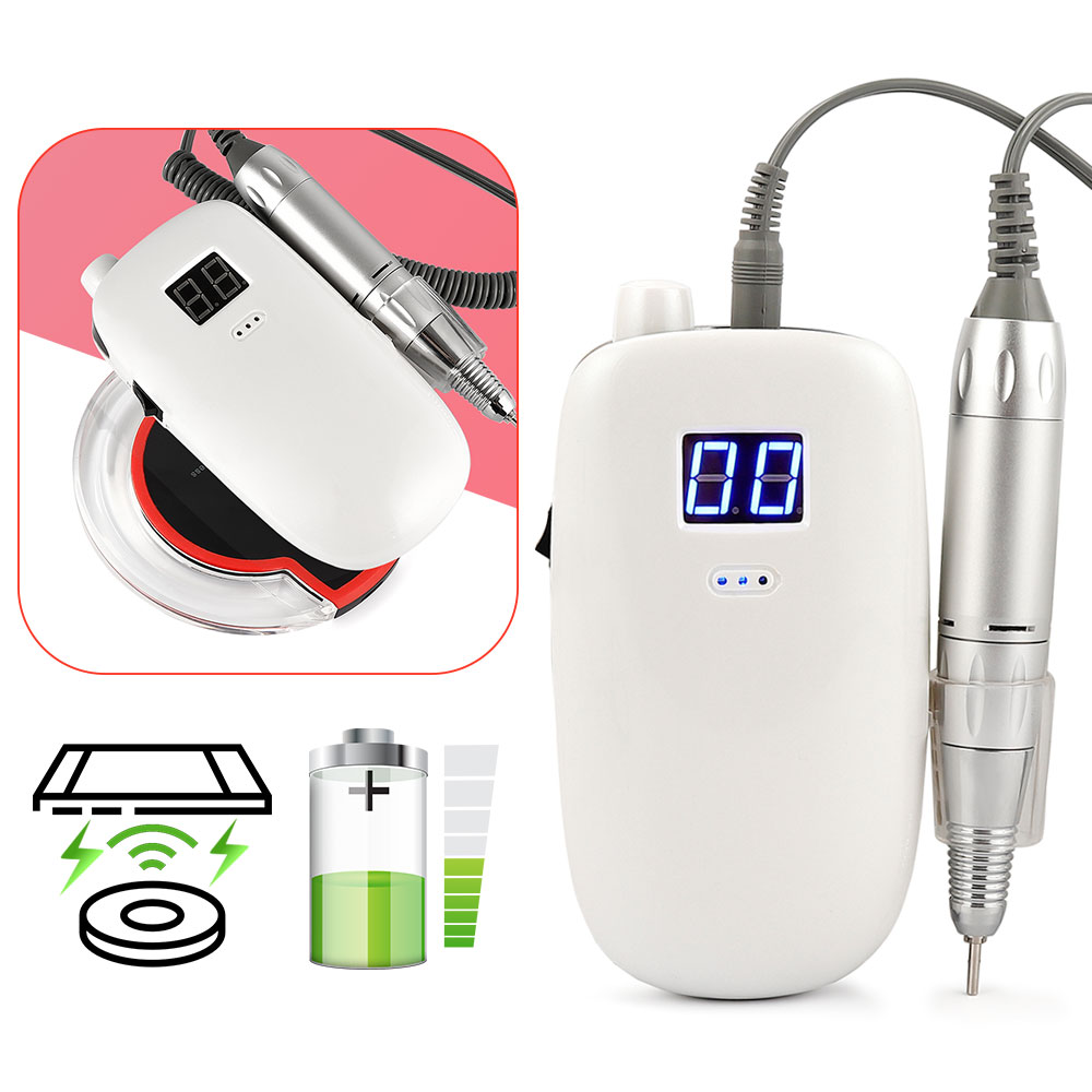 36W 30000RPM Rechargeable Wireless Charge Nail Gel Polisher Electric Nail Drill Machine Portable Manicure Set Nail Pedicure Tool