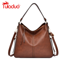 Women Handbags Luxury Shoulder Bags Hobos Designer Bags for Women Vintage High Quality Leather Casual Totes Women Messenger Bag 2018 canvas handbags top quality women shoulder bags designer totes casual shoulder bag messenger bag color block large totes